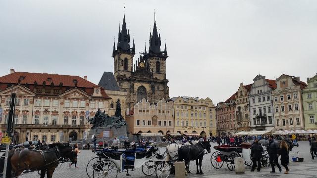 Прага площад в стария град Бохемия