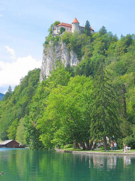 Bled Castle - quite high