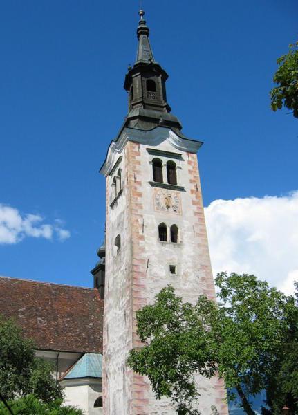 spire of island church